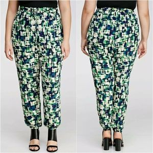 Forever 21 High Rise Abstract Print Jogger Pants